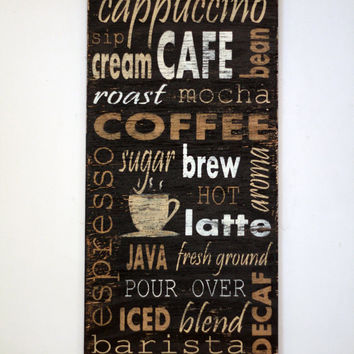 coffee sign, rustic sign, wood wall art, coffee kitchen decor, Wooden sign, coffee lover gift, kitchen wall decor, farmhouse wall decor