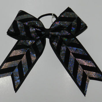 Cheer Bow  Black Base 21/4 by ABCBows on Etsy