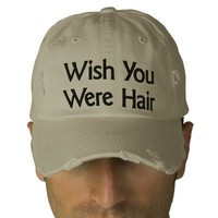Wish You Were Hair Baseball Cap from Zazzle.com