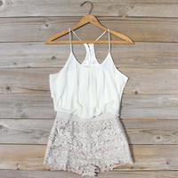 Kindred Spirits Romper in Sand