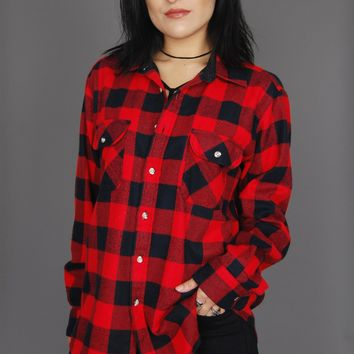 Timber Run Plaid Flannel Top