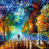 Freshness of Cold  — Artistic Signed Print on Cotton Canvas By Leonid Afremov