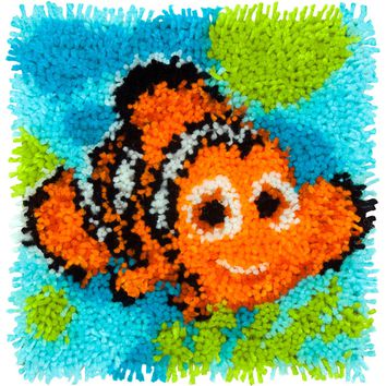 "Nemo - Finding Dory Disney Latch Hook Kit 12""X12"""