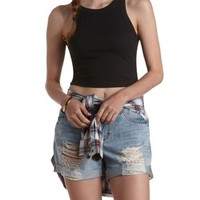Cropped & Ribbed Tank Top by Charlotte Russe