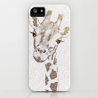 The Intellectual Giraffe iPhone & iPod Case by Paula Belle Flores