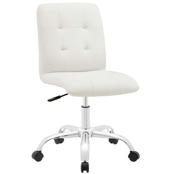 Prim Armless Mid Back Office Chair White EEI-1533-WHI