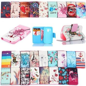 DCCKHY9 Leather Pu Filp Phone cases For Samsung Galaxy S3 mini Case Stand Holder Cover Cases With Card Slot For samsung S3 mini i8190