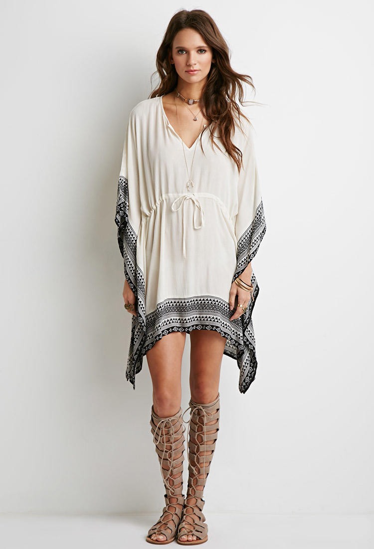 Tribal Print Poncho Dress from Forever 21