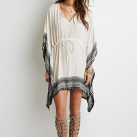 Tribal Print Poncho Dress