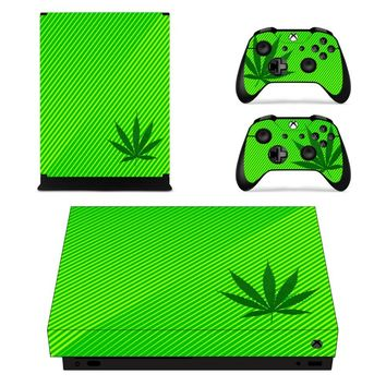 X0017 Game accessories Skin Sticker for Microsoft Xbox One X Console and 2 Controllers skins Stickers for XBOXONE X Enhanced