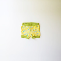 Arrows Organic Baby Shorties in Yellow and Green