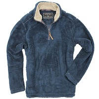 Pebble Pile Pullover 1/2 Zip in Vintage Denim by True Grit - FINAL SALE