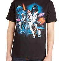 ModCloth Vintage Inspired Mid-length Short Sleeves May the Fierce Be with You Tee