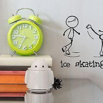 Wall Vinyl Sticker One of the Sports Figure Skating Funny Image Unique Gift (n308)