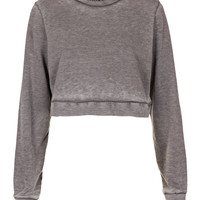 Petite Burnout Crop Sweat - New In This Week - New In - Topshop