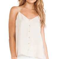 Amanda Uprichard Gold Ball Cami in Beige