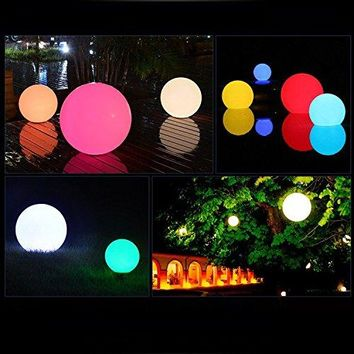 Solar Waterproof Floating Pool LED Ball Light for Indoor Outdoor, RGB Color Changing Globe Lamps