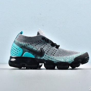Nike Air VaporMax Black Grey Sky Blue Toddler Kid Running Shoes Child Sneakers