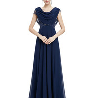 Party Dresses Ever Pretty EP09989 Chiffon V-neck Elegant Fashion Plus Size Prom Long Evening Party Gown Dresses