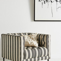 Suren-Striped Mina Chair