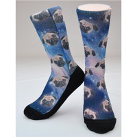 "CREW SOCKS - ""SPACE PUGS"" GLOSS"
