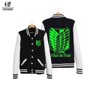 ROLECOS Arrival Style Japanese Anime Shingeki Kyojin Attack Titan Jacket Hoodie Cosplay Costume