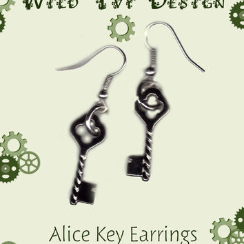 Wild Ivy Design | Keys to wonderland Earrings | Online Store Powered by Storenvy