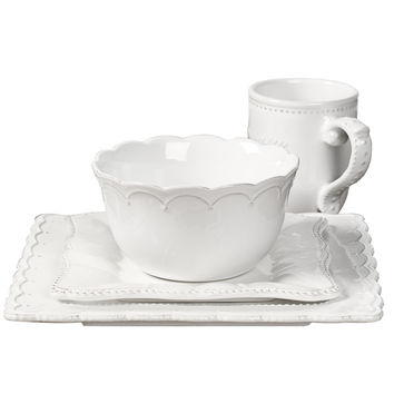 Le Provence-4 Piece Stoneware Square Dinnerware Service for One | Overstock.com Shopping - The Best Deals on Place Settings