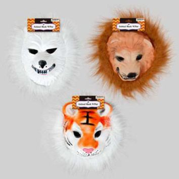 Halloween Mask Animal with Fur - CASE OF 24