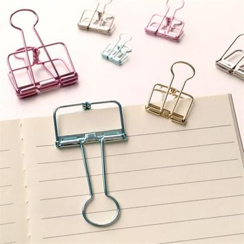 Cute Kawaii Colorful Metal Paper Clips For Photo Message Ticket File Office School Supplies Korean Stationery Free Shipping 670