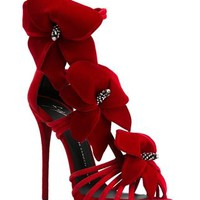Giuseppe Zanotti Design Flower Appliqué Sandals - Elite - Farfetch.com