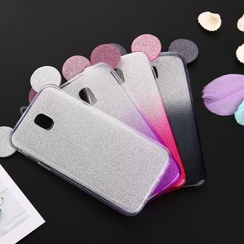 3D Minnie Mickey Mouse Ears Soft Silicone Case For Samsung Galaxy S8 S9 Plus A3 J3 A5 J5 A7 J7 2016 S7 Edge S6 J3 J5 J7 2017
