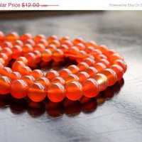 35% Off Red Onyx Gemstone Smooth Round 4.5 to 5mm Full Strand 75 beads