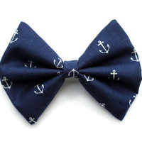Anchor Printed Hair Bow