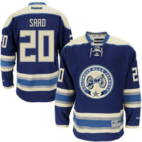 Men's Columbus Blue Jackets Brandon Saad Reebok Navy Alternate Premier Jersey