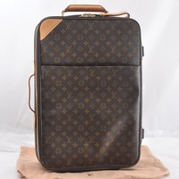 Authentic Louis Vuitton Monogram Pegase 55 Travel Carry bag M23294 LV 46778