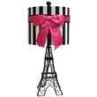 Black Eiffel Tower Lamp with Stripe Shade | Shop Hobby Lobby