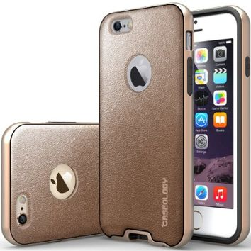 iPhone 6 Case, Caseology® [Envoy Series] Premium Leather Bumper Cover [Copper Gold] [Leather Bound] for Apple iPhone 6 (2014) & iPhone 6S (2015) - Copper Gold
