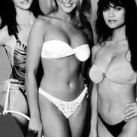 Swimsuit Models Poster Standup 4inx6in black and white