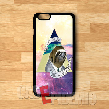 Sloth Quote on Nebula -tri for iPhone 6S case, iPhone 5s case, iPhone 6 case, iPhone 4S, Samsung S6 Edge