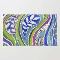 Patterned Nature Area & Throw Rug by Janet Broxon