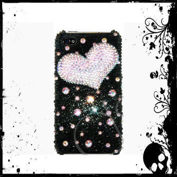 Swarovski Heart Design Bling iPhone 5/5s Crystal Case Made With Swarovski Elements Crystals - Bling iPhone case