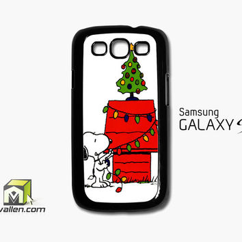 Merry Christmas Snoopy Samsung Galaxy S3 Case Cover by Avallen