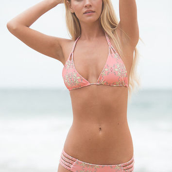 The Girl and The Water - Tori Praver - Shyla Bikini Top / Joshua Tree Guava - $63