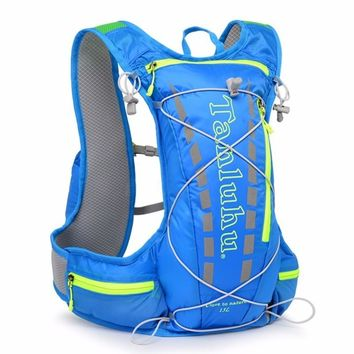 New 12L Outdoor Running Water Hydration Backpack Vest Bag Hiking Cycling Lightweight Travel Sports Bag 1.5L Water Bag