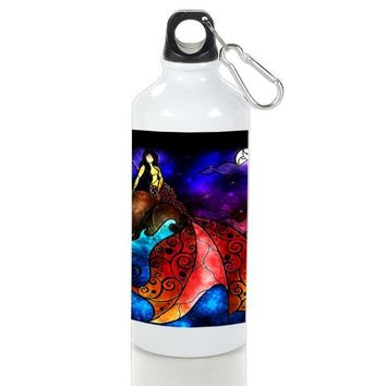 Gift Sport Bottles | Mermaid Nebula Colorfull Stained Glasses Aluminum Sport Bottles