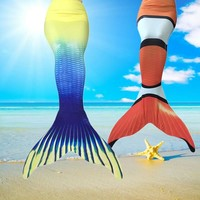 Mermaid tails for swimmable Children child  Mermaid Tail Costume Fins Aquarius Monofin Dress Women With Monofin Adult Kids