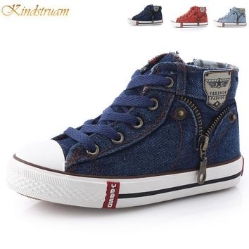 2017 New Kids Classic Canvas Shoes Children Casual Jeans Plimsolls Spring & Autumn Stu