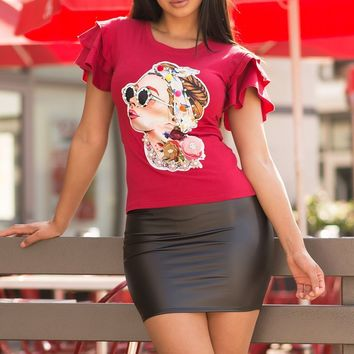 Louise Top - Red