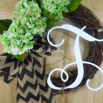 SPRING wreath - wreaths  - hydrangea wreath - grapevine wreath - easter wreath - door wreath - mothers day